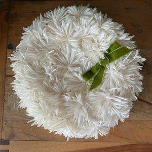 Vintage 60s daisy floral pillbox hat 3060